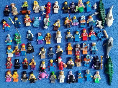 Figurky LEGO - 66 kusů + zvířata a doplňky