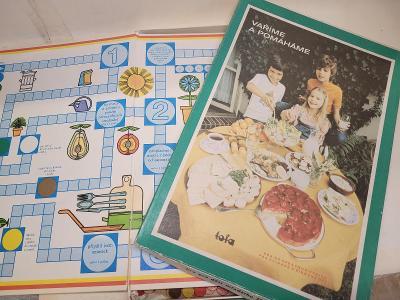 Dětská desková hra Vaříme a pomáháme r.v. 1989 Tofa n.p. Semily