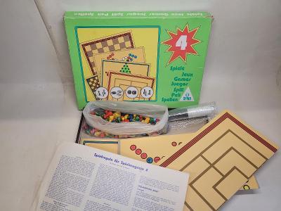 Dětská desková hra 6 hracích polí v jedné krabici kompletní stav dobrý