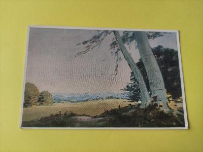Pohlednice umělecká - K. Kuber - krajina, strom