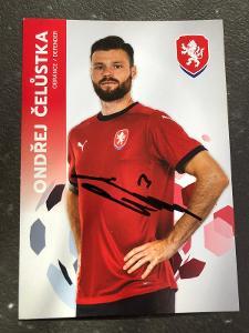 Autogram-Ondřej Čelůstka-Česká Fotbalová Reprezentce 2021/2022