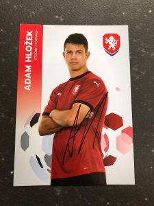 Autogram-Adam Hložek-Česká Fotbalová Reprezentce 2021/2022