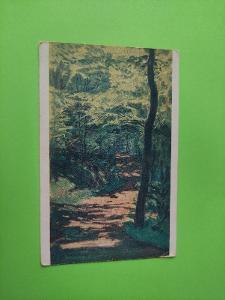 Pohlednice umělecká - Alois Kalvoda - Lesní cesta