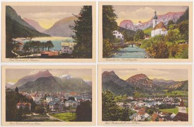 Německo, Alpy, Bavorsko, Berchtesgaden, Bad Reichenhall (10 ks) 1918