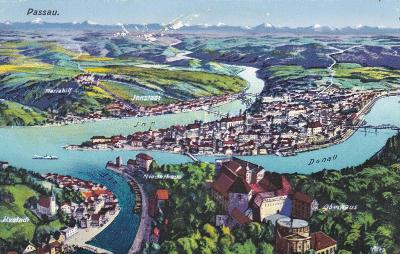 Německo, Pasov, Passau, Bavorsko 1926