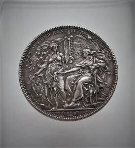 Stříbrná medaile střelby Vídeň 1880, krásné a vzácné!!!