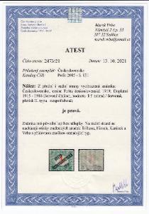 00. PČ 1919 POF. 131 DOPLATNÍ 1f II.typ VZÁCNÁ - ATEST Vrba **