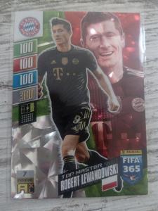 Fotbalová kartička - Robert Lewandowski TOP MASTER - FIFA 365 2022