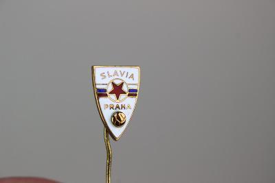 SLAVIA - NÁDHERNÝ STARÝ SMALTOVANÝ ODZNAK -  dárek pro hrdého SLÁVISTU