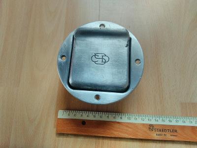 Popelník hliníkový výklopný ČSD.