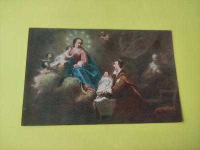 Pohlednice náboženská - náboženství - IG. Raab - Panna Maria - Marie