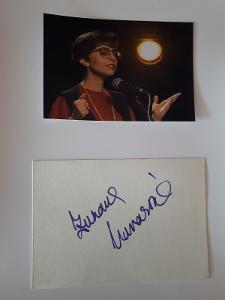 Navarová Zuzana, zpěvačka, kartička s originálním autogramem