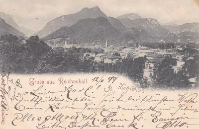 Německo, Alpy, Bavorsko, Bad Reichenhall - prošlá 1899