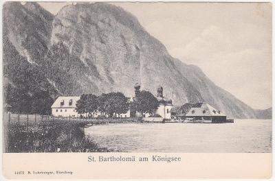 Německo, Alpy, Bavorsko, St. Bartholoma (Konigssee) 1905