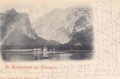 Německo, Alpy, Bavorsko, St. Bartholoma (Konigssee) - prošlá 1899