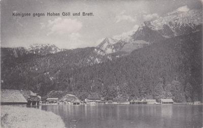 Německo, Alpy, Bavorsko, Konigssee, Bad Reichenhall - prošlá 1908