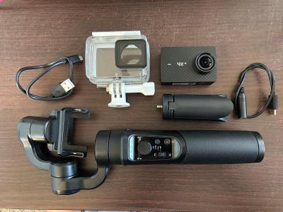 Akční kamera Xiaomi YI 4K + / Stabilizátor Rollei