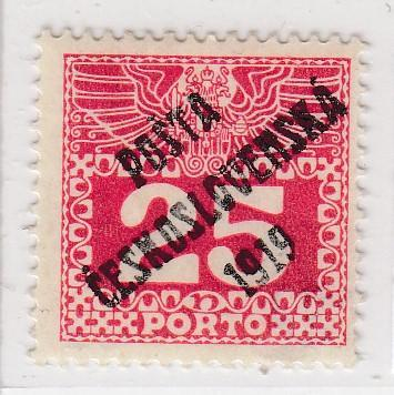 19. PČ 1919 POF. 69 PORTO 25h - II. typ ** zk. Vrba, Mrňák - LUXUSNÍ
