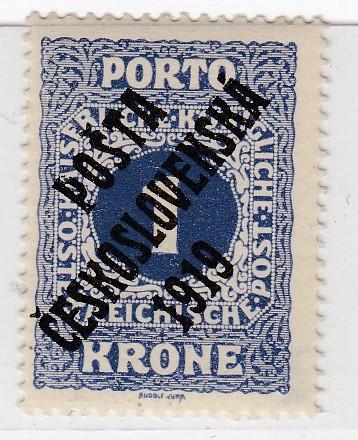 21. PČ 1919 POF. 80 PORTO 1K II. typ ** zk. Vrba, Gilbert - LUXUSNÍ