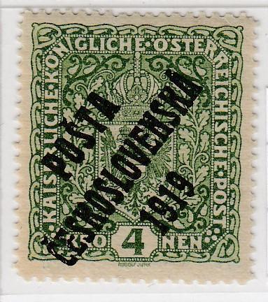 22. PČ 1919 POF. 50 ZNAK 4K široká 26x29 II. typ ** zk. Vrba