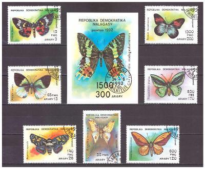 """Madagaskar 1992 kompletní série """"Butterflies 1992"""""""