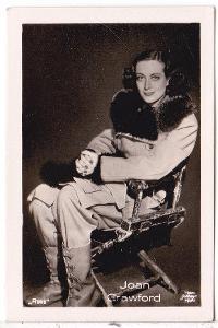 Fotoska s herečkou Joan Crawford  (4.5x7 cm)