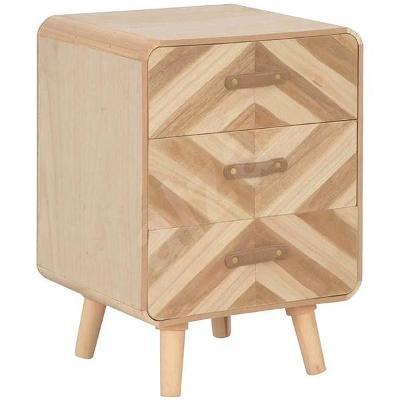 Noční stolek Noční stolek se 3 zásuvkami 40x35x56,5 cm masivní dřevo