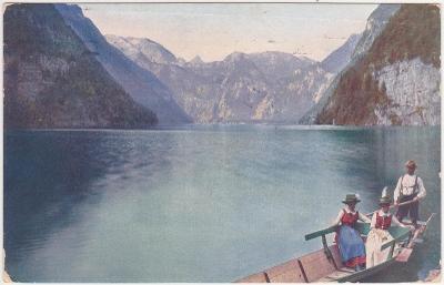 Německo, Alpy, Bavorsko, Konigssee, Bad Reichenhall - prošlá 1914