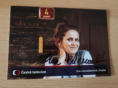 Leinweberová Eva, herečka, fotografie s originálním autogramem