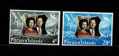 25. výročí svatby britského královského páru  1972 Mi 127/8* - Nr.135