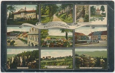 38 - Náchodsko, Police nad Metují, 9 - ti záběr dominant města, 1908