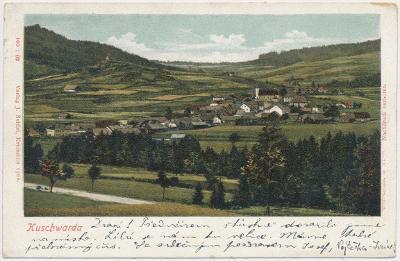 48 - Prachaticko, Strážný - Kuschwarda, celkový pohled, cca 1900