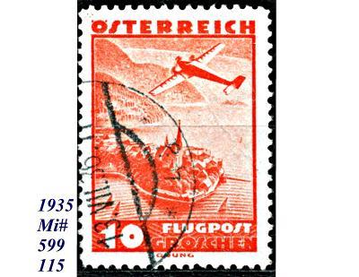 Rakousko 1935, letecká, letadlo nad krajinoy