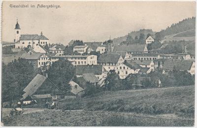 57 - Rychnovsko, Olešnice v Orlických horách, celkový pohled, cca 1909