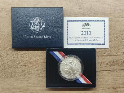 !Krásný Ag Dollar, 2010! Včetně certifikace a parádního balení!