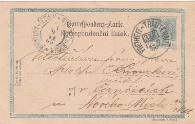 Rakousko, vlaková pošta 388, Svoboda n. Ú.-Trutnov 1900- okr. Náchod,