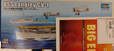 USS Langley CV-1 & BIG-ED lepty 1/350 Trumpeter & Eduard
