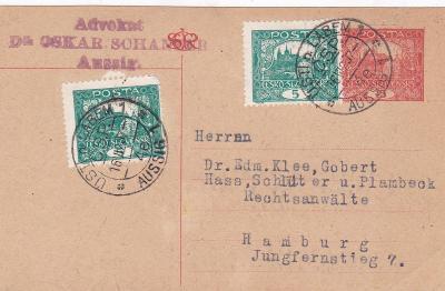 CDV 14 II, dofr. Hradčany, Ústí n. L. 1920, firma - Německo.