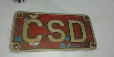 Štítek z motorového vozu  ČSD