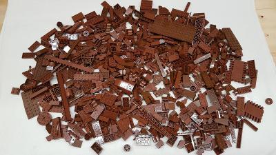 Lego díly brown a reddish brown 0,8 kg od Legomania