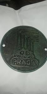 Bronzový štítek Praga s označením 556.0 Štokr