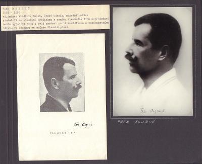 Bezruč Petr (1867-1957)  autor jediné básnické sbírky původně nazvané