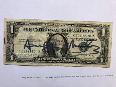 ANDY WARHOL!Unikátní podepsaný DOLLAR Mimořádná nabídka!!!