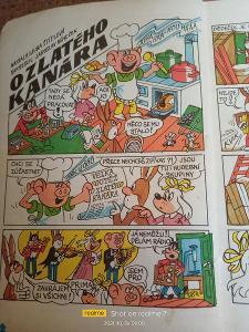 O ZLATÉHO KANÁRA 1974  Čtyřlístek č.33