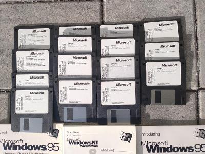 Windows 95 originál historiský, diskety