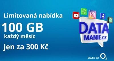 Datamanie O2 100GB dat/měsíc