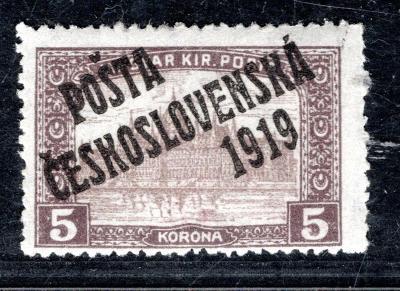Pč 1919/117, typ II, Parlament, hnědá 5 K, zk. Le, Ma/19.61192
