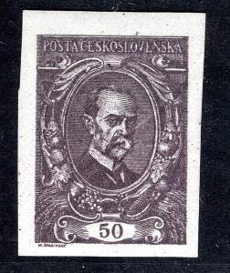 Masaryk 1920/ZT 50 h,  HT, TGM, malý formát, fialová, složka/19.56034