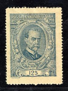 Masaryk 1920/140 ZT, typ I, TGM, papír obyčejný,  125 h modrá/19.59078