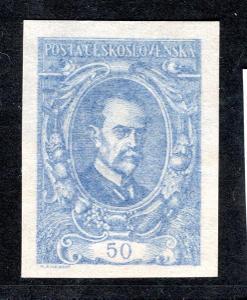 Masaryk 1920/ZT 50 h, modrá větší číslice, tisk na publikaci/19.60200